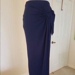 Bailey 44 wrap side maxi skirt